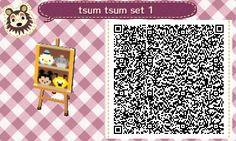 Tsum tsum qr codes for Animal Crossing New Leaf!
