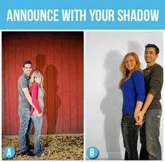 I love the shadow! 50 Creative Pregnancy Announcements