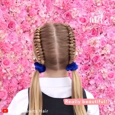Girl Hairstyles 616359898988227419 - You will surely enjoy these two super cute hairstyles! By: Hair Source by cdendien Super Cute Hairstyles, Flower Girl Hairstyles, Little Girl Hairstyles, Short Hairstyles For Women, Bun Hairstyles, Halloween Hairstyles, Hairstyle Short, School Hairstyles, Natural Hairstyles