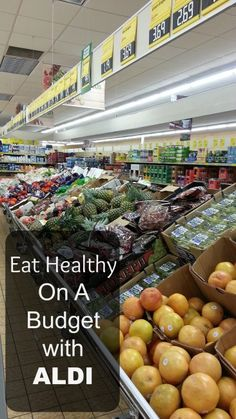Eat Healthy on A Budget with Aldi - Use these tips to help you save money on healthy, real food