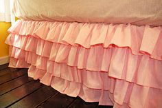 Ruffle bedskirt, will be cute for my daughter's bed!!
