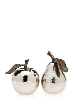 Apple & Pear Salt/Pepper Shakers//
