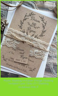This rustic wedding invitation is ideal for any country,barn, vintage, rustic or garden wedding. My invitation suites are printed on your choice of 100lb matte white or ivory, 100lb white or ivory linen, or 105lb white or ivory shimmer cardstock, Kraft, or 100lb Ivory Speckled and can be customized to any color in our color chart. Please read entire listing for customization options, ordering instructions, pricing options, and add-ons. **This p wedding invitations with pictures Rusti Wedding Invitations With Pictures, Vintage Wedding Invitations, Rustic Invitations, 21st Invitations, Invitation Suite, Garden Wedding, Rustic Wedding, Card Stock, Barn