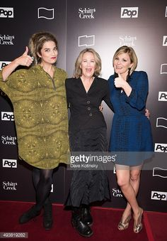 Actresses Annie Murphy Catherine O'Hara and Jennifer Robertson attend the Annual New York Television Festival 'Shitt's Creek' Screening at SVA. Catherine O'hara, David Rose, Daniel Levy, Schitts Creek, Badass Women, Celebs, Celebrities, Rock Stars, Woman Crush