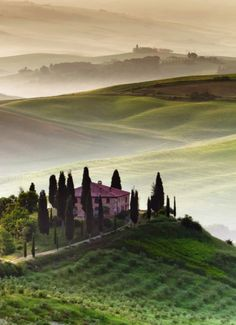 VAL D'ORCIA, Italy: is part of the agricultural hinterland of Siena, redrawn and developed when it was integrated in the territory of the city-state in the 14th and 15th centuries to reflect an idealized model of good governance and to create an aesthetically pleasing picture. Its images have come to exemplify the beauty of well-managed Renaissance agricultural landscapes & led to the beginning of the concept of 'landscape' as a man-made creation.