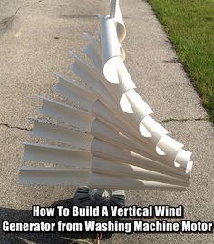 15 Brilliant Diy Wind Turbine Design Ideas For Living Off The Grid Diy Vertical Wind Turbine From Washing Machine Motor Brilliant Diy Wind Turbine Design Ideas For Living Off The Grid Vertical Wind Turbine, Building A Wind Turbine, Alternative Energie, Washing Machine Motor, Pvc Projects, Energy Projects, Earthship, Homestead Survival, Urban Survival