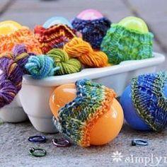 Easter Egg Sox Free Knitting Pattern
