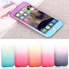 360 degree Case Full Body Protection Gradient Cover for iphone Screen Glass