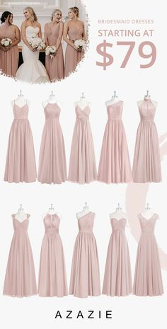 Dusty Rose Bridesmaid Dresses at Affordable Prices Choose your classic dusty rose bridesmaid gown from our selection. See Azazie's bridesmaids wearing dusty rose dresses and let yourself be inspired! Burgundy Bridesmaid Dresses Long, Davids Bridal Bridesmaid Dresses, Bridesmaid Dress Colors, Dusty Rose Dress, The Dress, Marie, Entourage, Feeling Overwhelmed, Dress Styles