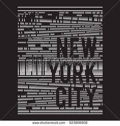 Pattern of  New York typography, tee shirts graphics, vectors