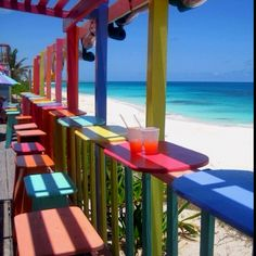 Nippers Bar on Great Guana Cay Abaco, Bahamas. Love it here!...Fun party place!