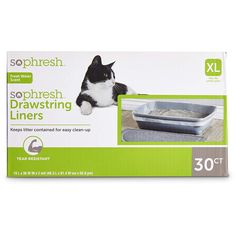 So Phresh Scented Drawstring Cat Litter Box Liners ** You can find more details by visiting the image link. (This is an affiliate link) #Cats