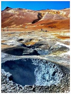 Hverir geothermal fields at the foot of Namafjall Mountain, Myvatn Lake area