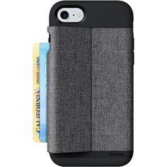 Incipio - Esquire Series Wallet Case for Apple® iPhone® 7 - Heather dark gray