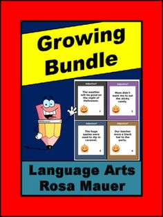 Buy this growing Language Arts Task Card Bundle at the current price. When products are added, you will receive notice so you can download again. You only pay once!New and some older products will be added on a regular basis.In this Language Arts Task Card & Worksheet Bundle:Adjectives Halloween Theme Task Cards and WorksheetHalloween & Autumn Capitalization & Punctuation ReviewQuestion Words Review & PracticeIrregular Verbs Autumn Theme Task Cards & WorksheetAutumn Fill-i...