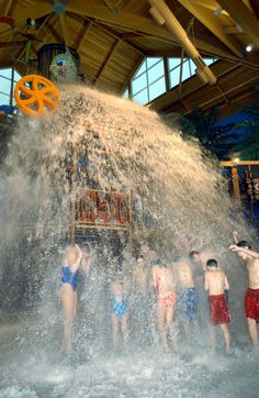Cedar Point's indoor waterpark Castaway Bay in Sandusky, Ohio.