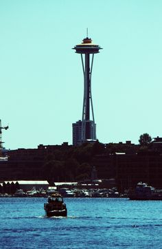 """Space Needle from a boat on Lake Union in Seattle.     This is the first entry to the """"Places"""" board. It's places I've either been to or want to go to. Pretty simple."""