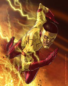 A fast ;) piece of Keiynan Lonsdale as Kid Flash! Is it Fall yet? Wally West, Kid Flash, Flash Art, Marvel Vs, Marvel Dc Comics, Dc Comics Action Figures, Flash Wallpaper, Flash Comics, Reverse Flash