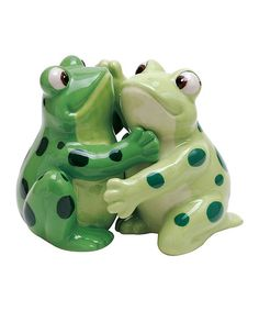 Look at this Hugging Frogs Salt & Pepper Shakers on #zulily today!