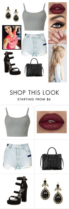 """Untitled #4241"" by sigalv ❤ liked on Polyvore featuring tarte, Topshop, Balenciaga and Stuart Weitzman"