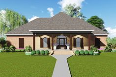 Acadian House Plan with Safe Room - 83876JW | 1st Floor Master Suite, Acadian, Butler Walk-in Pantry, CAD Available, Corner Lot, French Country, PDF, Southern, Split Bedrooms | Architectural Designs