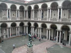 """The Pinacoteca di Brera (""""Brera Art Gallery"""") is the main public gallery for paintings in Milan, Italy. It contains one of the foremost collections of Italian paintings. Monuments, Milan Museum, Milan Travel, Italian Paintings, Milan Italy, Northern Italy, Genius Loci, Academia, Italy Travel"""