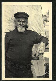 Vieux matelot à Houlgate, Calvados.