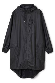 Weekday image 1 of RAINS Parka w zip and hoodie in Black