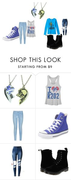 """""""cute star wars fans"""" by maryjsullivan on Polyvore featuring R2, 7 For All Mankind, Converse and Dr. Martens"""