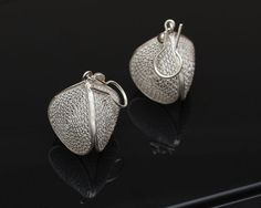 Silver Filigree Earrings  925 Silver Dangle by SilverLiningStr