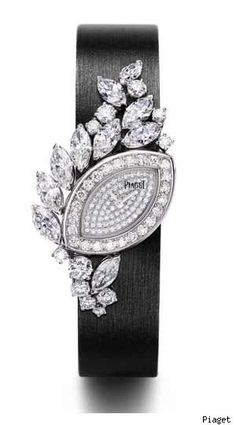 copy piaget 18-carat white gold and diamond watch