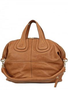 Givenchy Brown Nightingale Medium Smooth Top Handle - mine has silver studs around the top