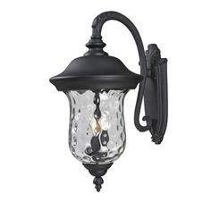 Z-Lite Armstrong 3-light Black Outdoor Wall Mount Light (Armstrong Black Outdoor Wall Light) (Glass)