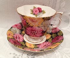Vintage ROYAL ALBERT Fine Bone China Tea Cup & by CupsAndRoses
