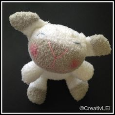 completed sockdoll sheep CreativLEI.com