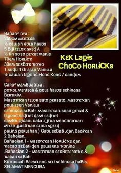 Kek lapis koko horlicks Layer Cake Recipes, Layer Cakes, Dessert Recipes, Biscuit Cake, Biscuit Recipe, Eat Me Drink Me, Food And Drink, Cake Cookies, Cupcake Cakes