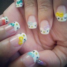 20 Cute Hello Kitty Nail Art Designs - BeautyCross
