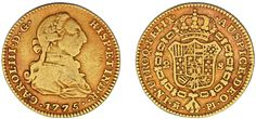 2 GOLD ESCUDOS/ORO. CHARLES III-CARLOS III. MADRID 1775. VF/MBC. INTERESANTE.