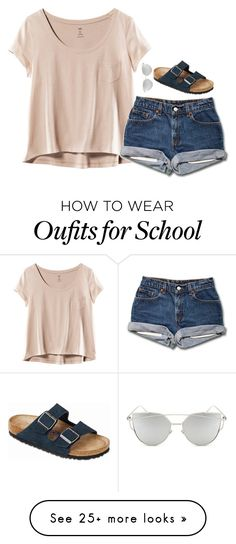 """Last Friday of the school year!"" by laxsoccerlover36 on Polyvore featuring H&M, Chicnova Fashion and Birkenstock"