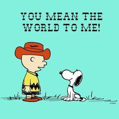 Charlie Brown loves Snoopy.