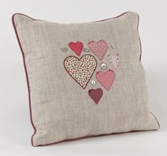 Hearts in a Heart Cushion