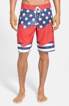 Board Shorts for his 4th of July party