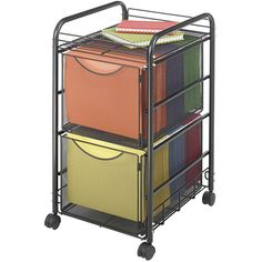 Give your workspace or office a unique touch of functionality with this steel mobile file cart. Perfect for creating some space for organization in a busy work environment, this sturdy cart fits neatly under your desk for convenient style.