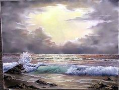 Um Só Minuto: 147) Pintura Em Tela à Óleo - Pastel Morning Wave - Paint with Kevin Hill (maravilhoso!!!!)