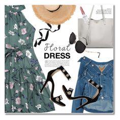 """floral dress"" by svijetlana ❤ liked on Polyvore featuring Balenciaga, Rodin, floraldress and zaful"