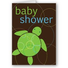Baby Shower Turtle Invitation