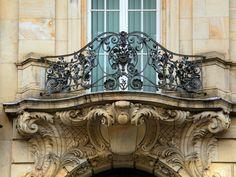 Rococo wrought iron balcony