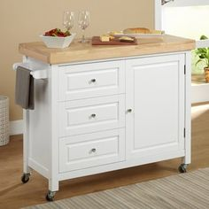 Home Styles Natural Breakfast Bar Kitchen Cart   Overstock.com Shopping - The Best Deals on Kitchen Carts