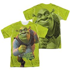 Shrek Animated Family Comedy Movie Look Good in Green Adult 2-Sided Print TShirt @ niftywarehouse.com #NiftyWarehouse #Shrek #Movies #Movie