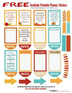 FREEBIE Printable Planner Stickers with Bible Verses for any size planner and 50% Off Thanksgiving Bundle.#Planneraddict #Plannerlove #Biblejournaling